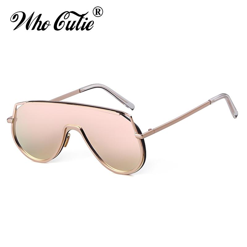 e6416383fe4 WHO CUTIE Oversized Sunglasses Men Women Brand Design 2019 Vintage Big Frame  90S Sun Glasses Mirror Lens Shades for Women OM793 Sunglasses Cheap  Sunglasses ...