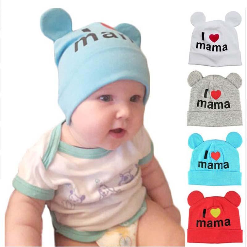 1e1d5b8aacb Cute Ear Baby Hat Newborn Boys Girls Cotton Skullies Beanie Soft ...