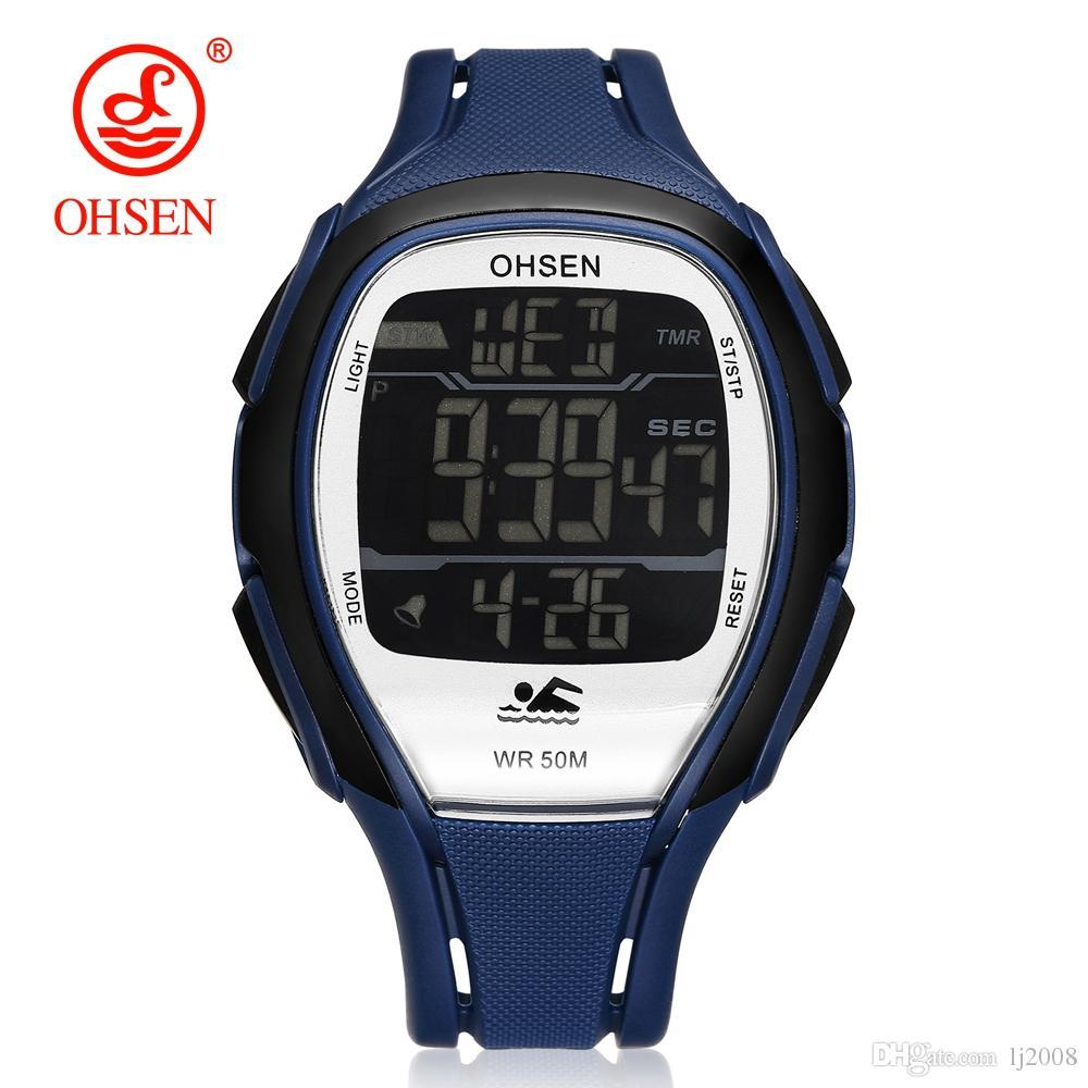 Compre 2018 Nueva Moda Ohsen Reloj Deportivo Para Hombre Led Reloj Digital  Hombres Correa De Goma Impermeable Reloj De Pulsera De Alarma Reloj  Militray ... dfdba5bf42c8