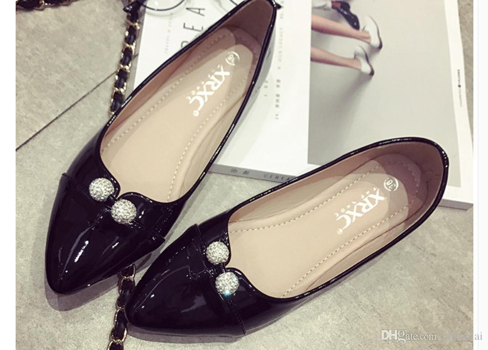 2d40ea2fc Compre Livre Enviar 2018 Outono Novo Estilo Coreano Pontiagudo Sapatos  Femininos De Fundo Plano Inferior De Changlai, $26.14   Pt.Dhgate.Com