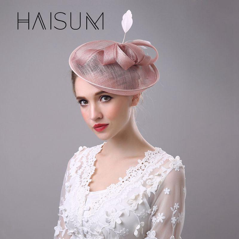 Haisum Top Fashion 2018 Vintage Women Fascinator Hat Flower Hairband  Headwear Dress Derby Church Wedding Cocktail Feather Hn42 Wedding Hair  Accessories Uk ... a25dad8fc42