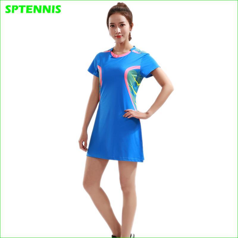 f7edfeb1fd Compre Vestido De Treinamento Rápido Dos Esportes Do Tênis Do Vestido Das  Mulheres Para A Roupa 100% Do Tênis Do Poliéster Da Menina De Wudun