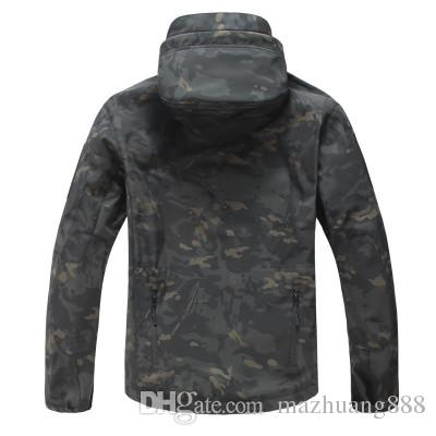 Shark Skin V5 Soft Shell Tactical Military Jacket Men Waterproof Winter Fleece Coat Army Clothes Camouflage Jackets