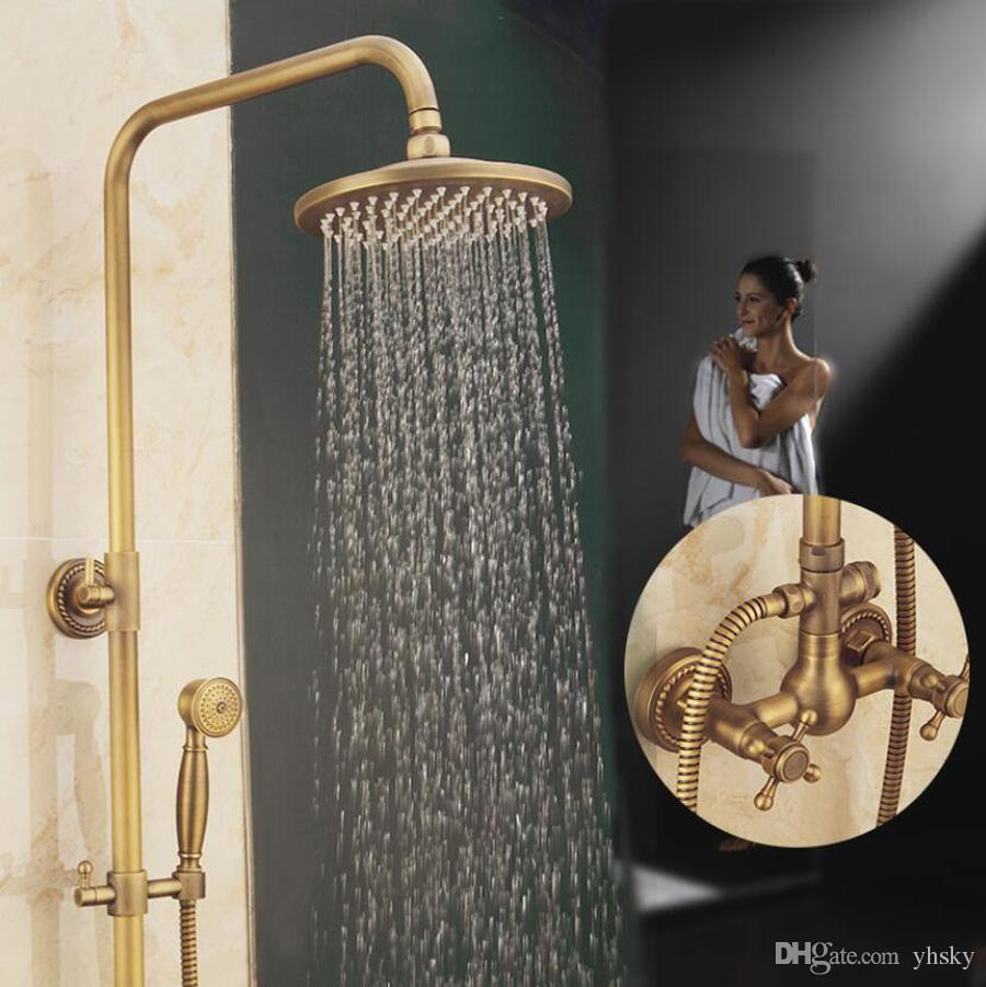 2018 New Bathroom Retro Shower Set High Quality In Wall Copper Full ...