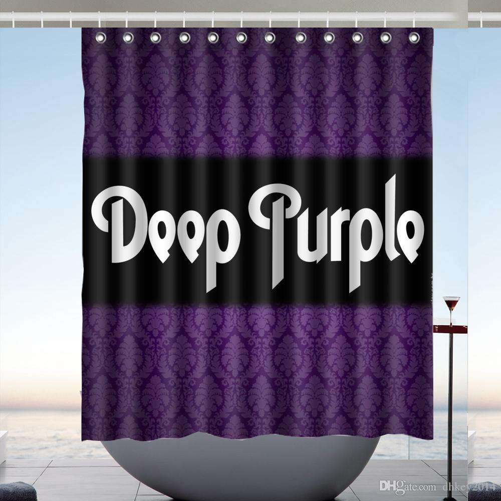Custom Deep Purple Waterproof Bathroom Shower Curtain Polyester Fabric Size 60 X 72 UK 2019 From Dhkey2014 3517