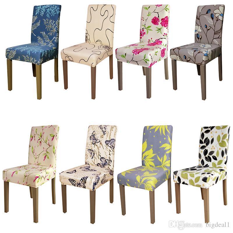 acheter impression fleurs taille universelle chaise housse. Black Bedroom Furniture Sets. Home Design Ideas