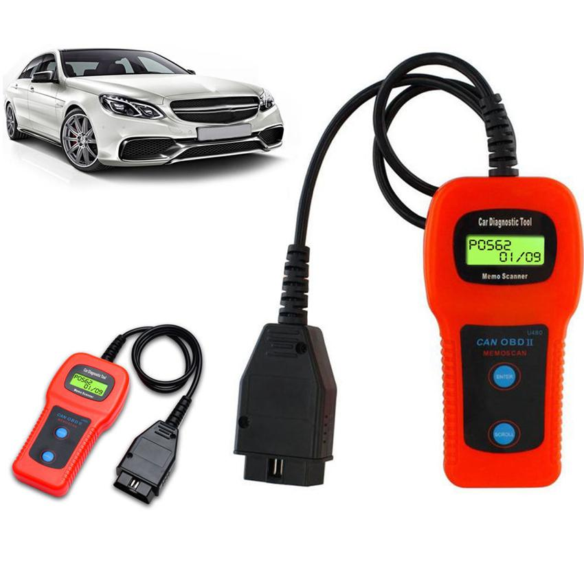 Car-Care U480 OBD2 OBDII OBD-II MEMO Scan MEMOSCAN LCD Car AUTO Truck  Diagnostic Scanner Fault Code Reader Scan Tool GGA270