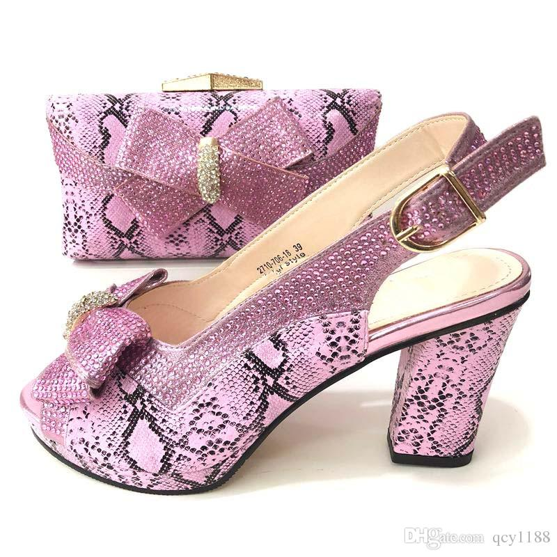 491ac44bc6f1 Pink Color Italian Ladies Shoes And Bags To Match Set Nigerian Shoes And  Matching Bag African Wedding Shoes And Bag Set !Q200 Buy Shoes Online Wedge  Boots ...