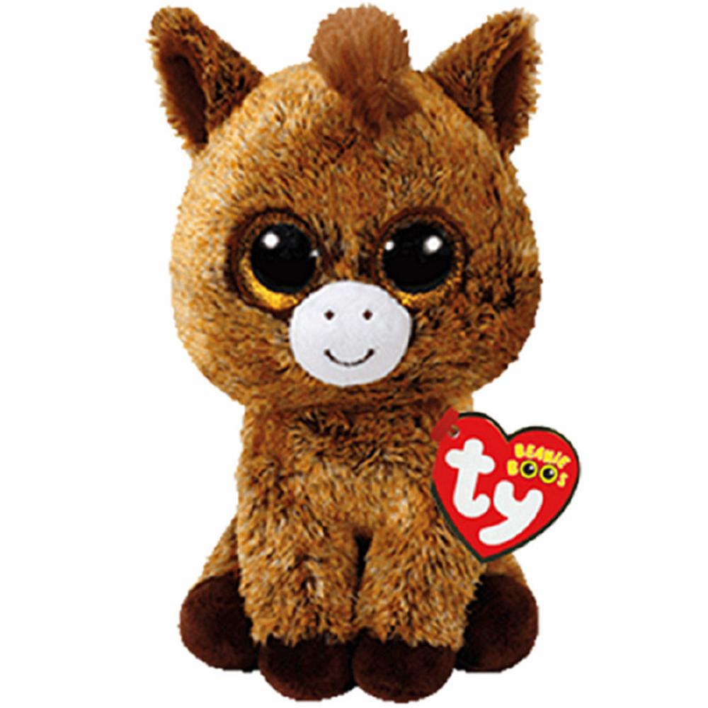 5c56a8d7d19 Pyoopeo Ty Beanie Boos 6 15cm Harriet The Horse Plush Regular Soft Big Eyed  Stuffed Animal Collection Doll Toy With Heart Tag UK 2019 From Sightly