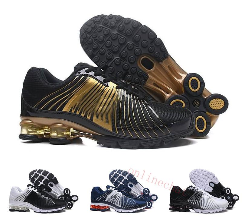 New Designer Men Women Shox Running Shoes Deliver OZ NZ TLX Shox Athletic  Sneakers Sports Outdoor Walking Shoe Size 36 46 Running Spikes Track Shoes  From ... 2a036a60b