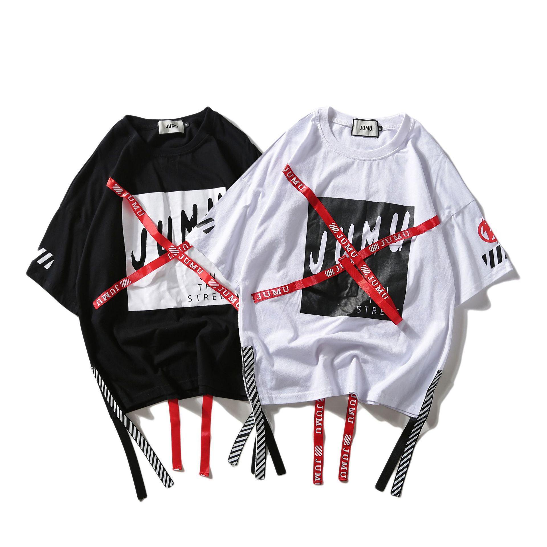 Acquista Maglietta Lunga Allentata T Shirt Da Uomo 2018 Mezza Manica Hip Hop  Lettera T Shirt Da Uomo  S manica Corta Moda Jumu T Shirt A  32.49 Dal ... caa9845eec2