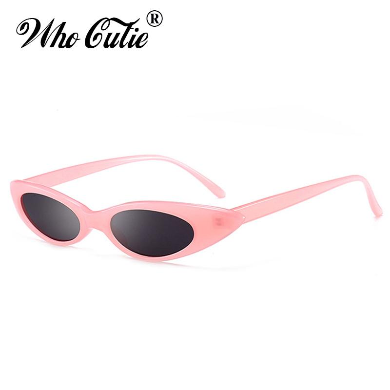 9f4be96965 WHO CUTIE 2018 Skinny Narrow Cat Eye Sunglasses Women Vintage Cateye Small  Size Frame Retro Tiny Oval Sun Glasses Shades OM592B Prescription Sunglasses  ...