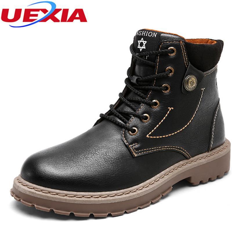4e1532f0 Compre UXIA Tobillo Trabajo Casual Botas Masculinas Zapatos De Hombre  Diseñador De Calidad Moda Clásica Tapa De Trabajo Botas Altas Botas De  Seguridad Al ...