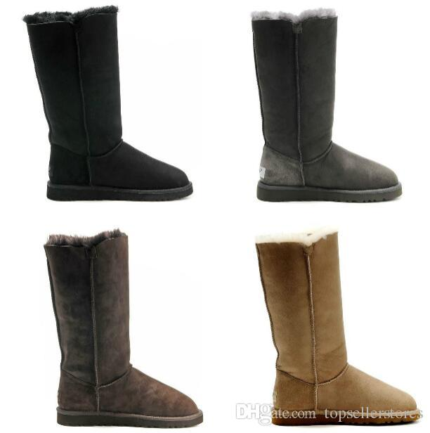 84012d05b Fashion Winter Snow Boots Women New 3 BUTTON Three Boot Ladies Warm  Australia Tall Shoes Girls Xmas Classic Boots for sale
