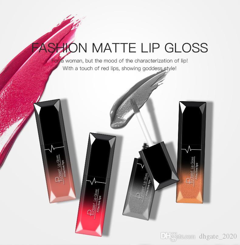 Pudaier ماتي السائل أحمر الشفاه Lipgloss 21 ألوان المهنية مرطب الشفاه لمعان 7.5ml dhl مجانا