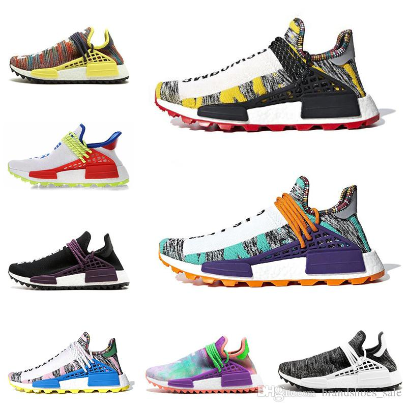 dc918e567f2e8 Different Prices Human Race Afro Hu Trial Red Green Pharrell Williams Men  Running Shoes Black Solar Pack 3 Women Trainers Sports Sneaker Running  Shoes ...