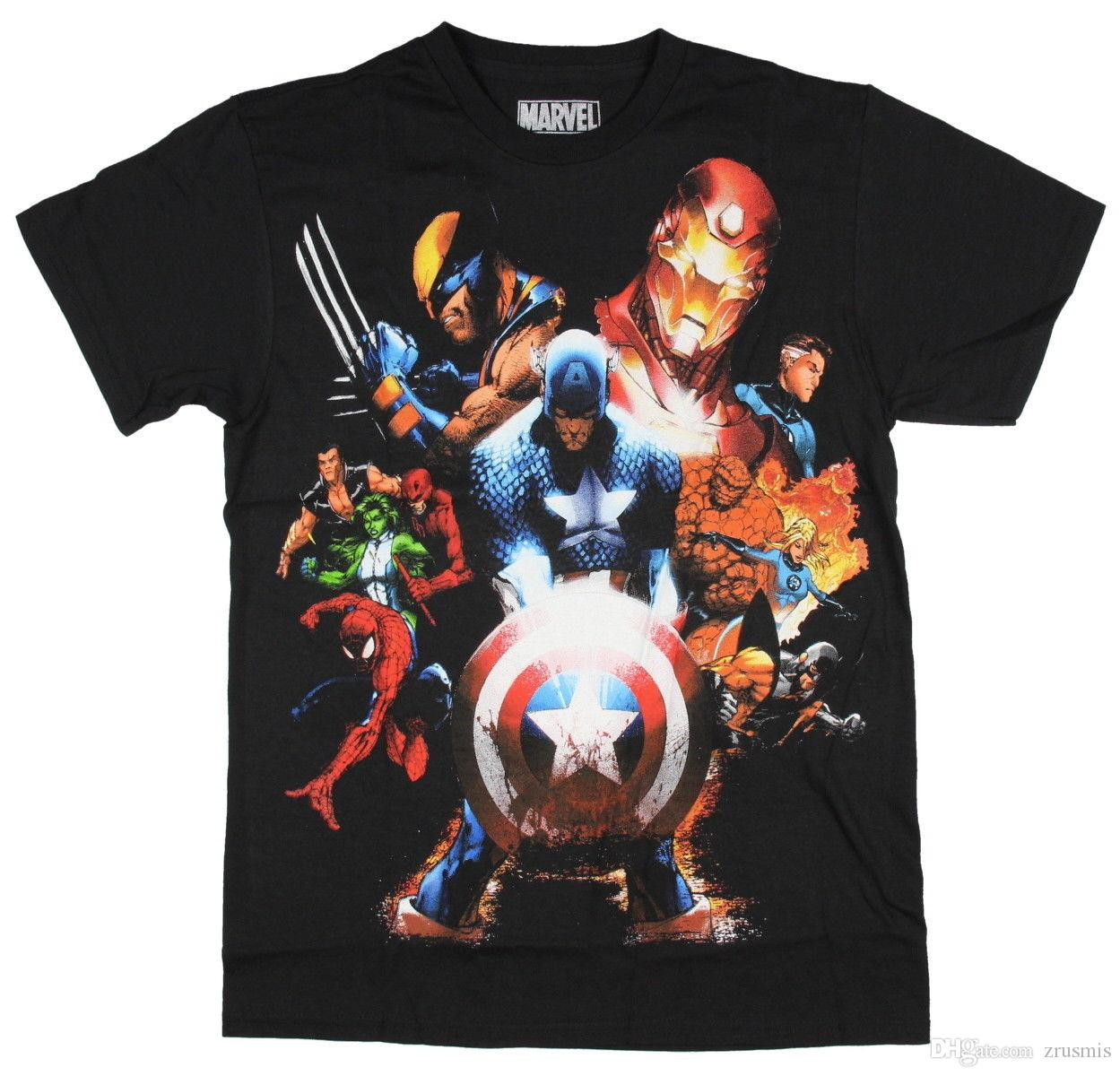Marvel Comics Mens Soldiers Revenge T-Shirt (Small)