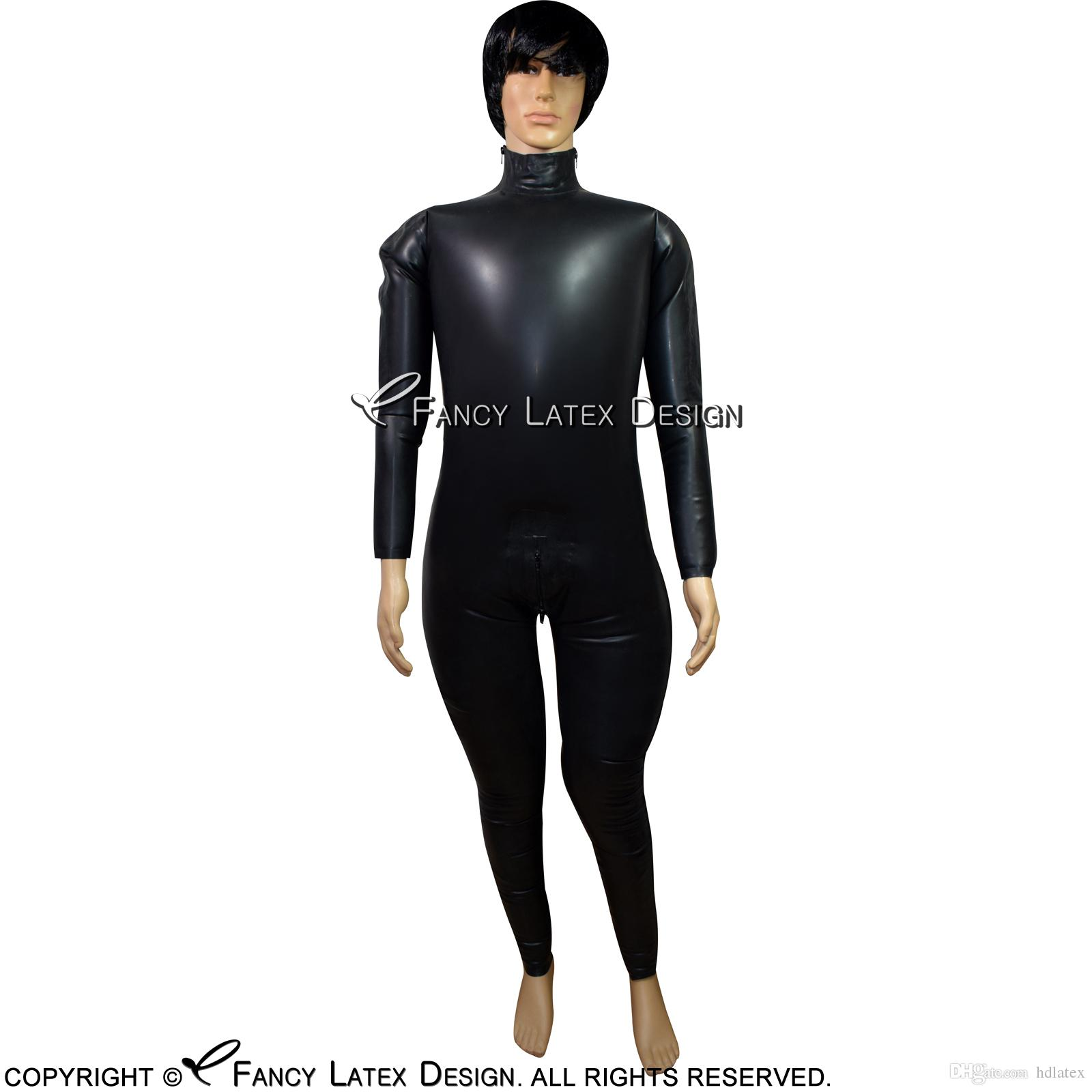 Inflatable latex suit are