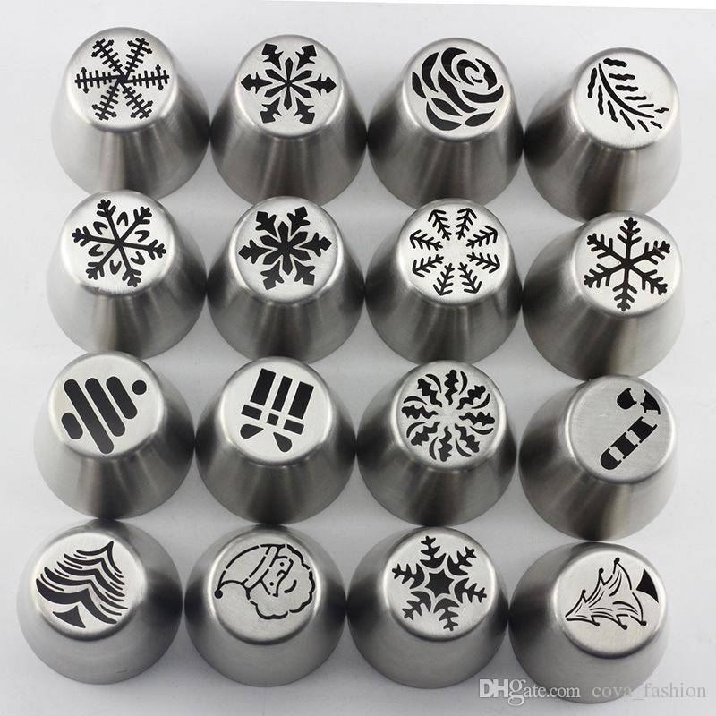 Baking Tools Christmas Tree Icing Piping Tips Special Russian Leaf Nozzle Bakeware Cupcake Cake Decorating Pastry C0765