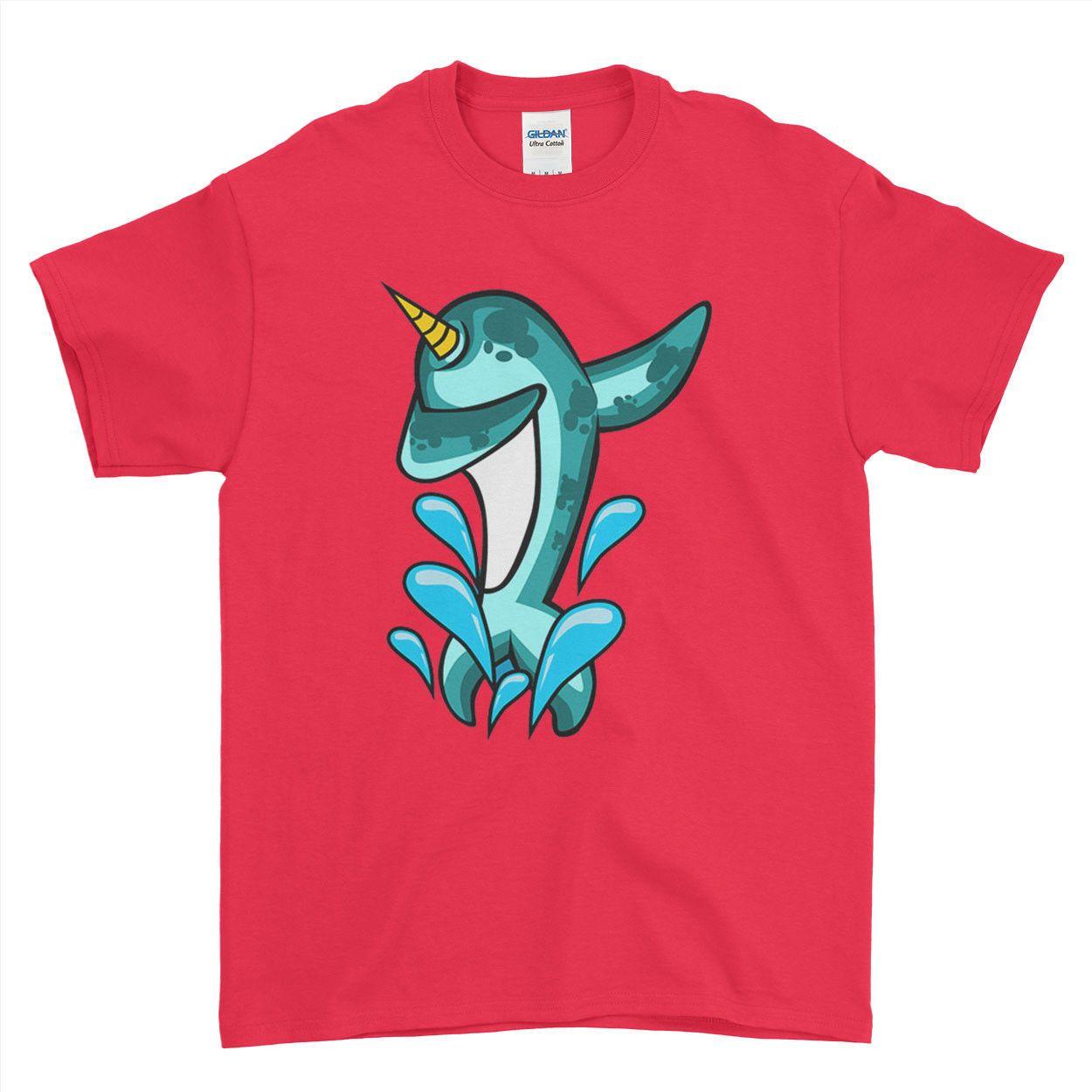 939ae9e6 Cute Unicorn Narwhal Funny Cartoon Mens Womens Kids T Shirt O Neck Fashion  Printed Mens Cotton T Shirt Round Neck Man'S T Shirt Shopping Awesome Tee  Shirts ...