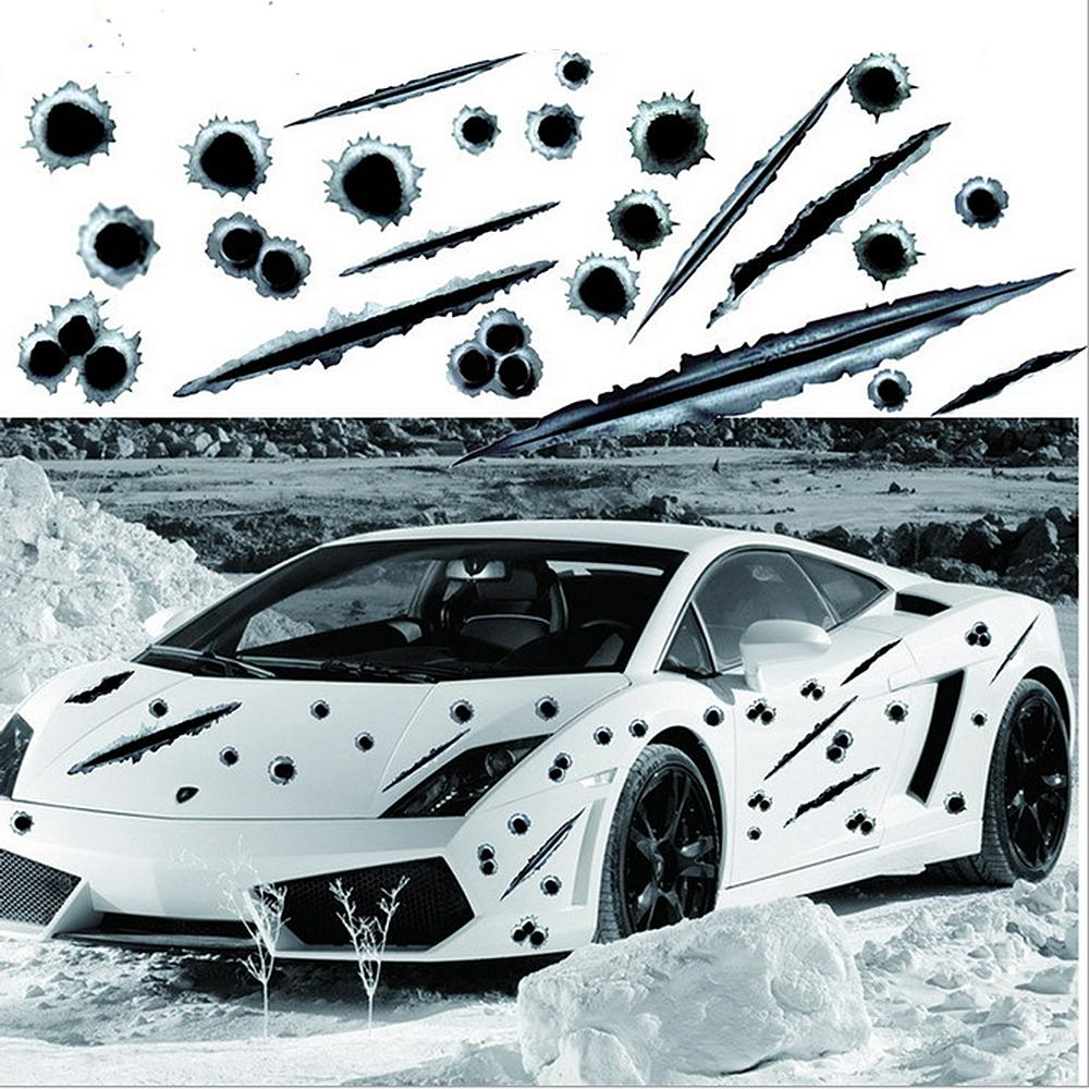 2019 car side stickers 3d bullet hole funny decals auto motorcycle decoration sticker car styling from luckyangel 999 7 04 dhgate com