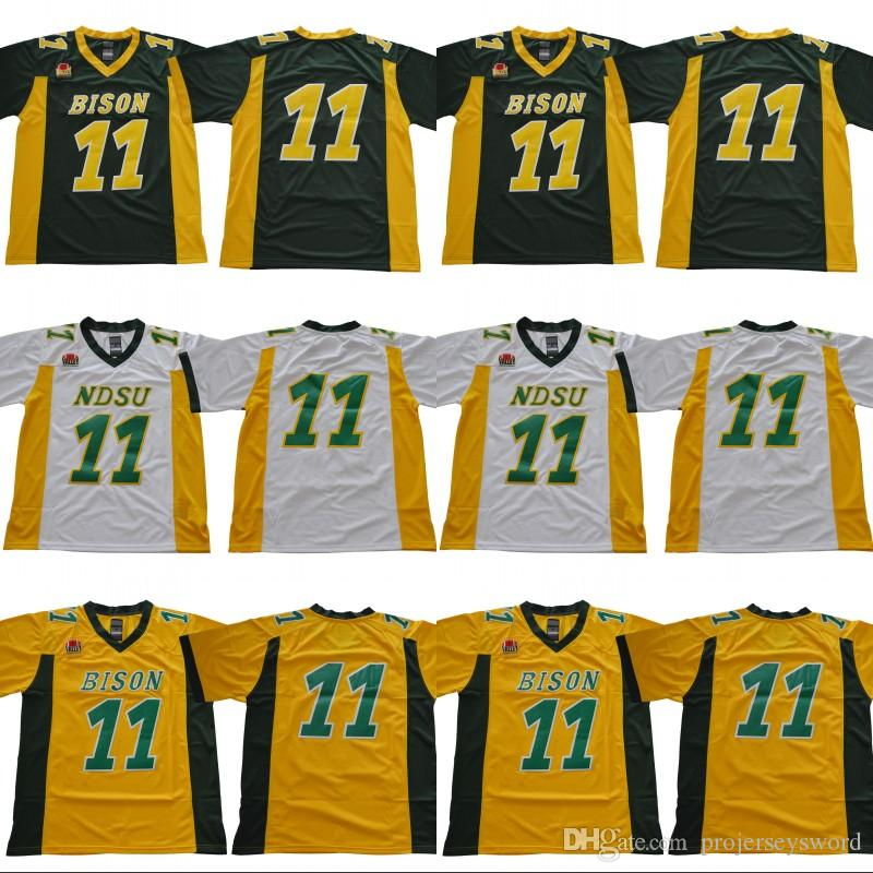 new arrival c9b13 6f7c8 hot bison 11 carson wentz white limited stitched ncaa jersey ...