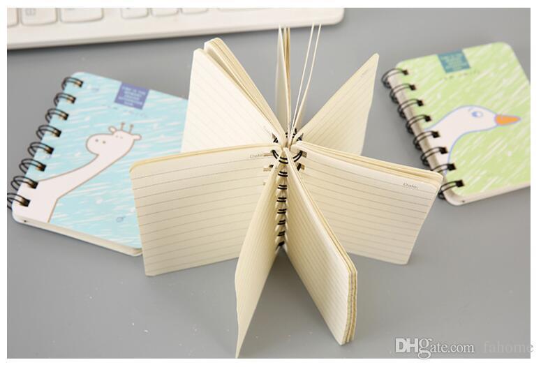 Bloc-notes de petite taille avec bloc-notes Journal Bloc-notes Journal Notes de l'étudiant - Dessin animé Kawaii Horaire Agenda Papeterie Fournitures scolaires