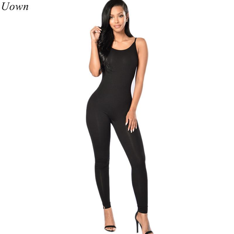 dce8fc39deb3 2019 One Piece Jumpsuit Womens Romper Sexy Female Casual Backless Straps  Slim Bodycon Long Jumpsuits Overalls Macacao Feminino Y1891807 From  Zhengrui07