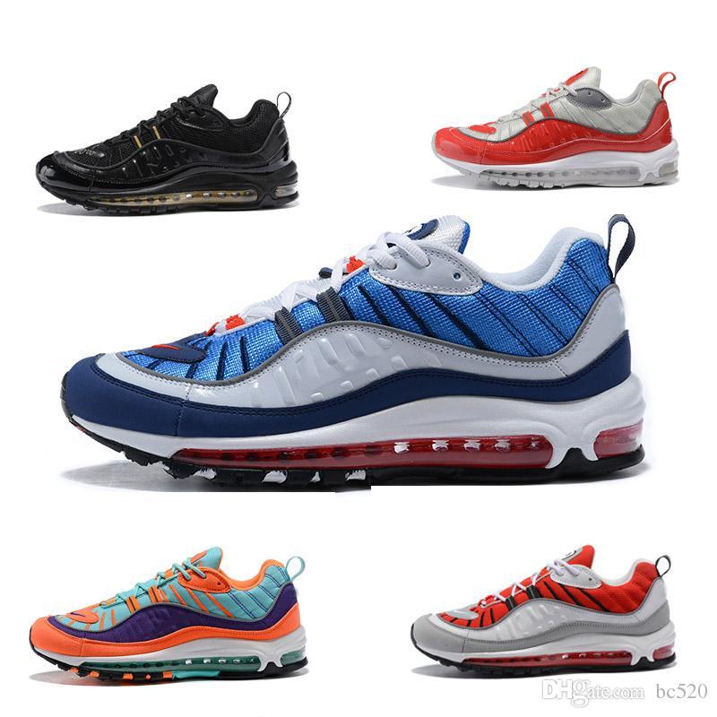 2e9b9b06f391c Compre 2018 Nike Air Max OG 98 Gundam Vm 98 Zapatillas De Running Para  Mujeres Hombres 98S TN OG ZOOM Zapatillas De Deporte Athletic Bullet Zapatos  De ...