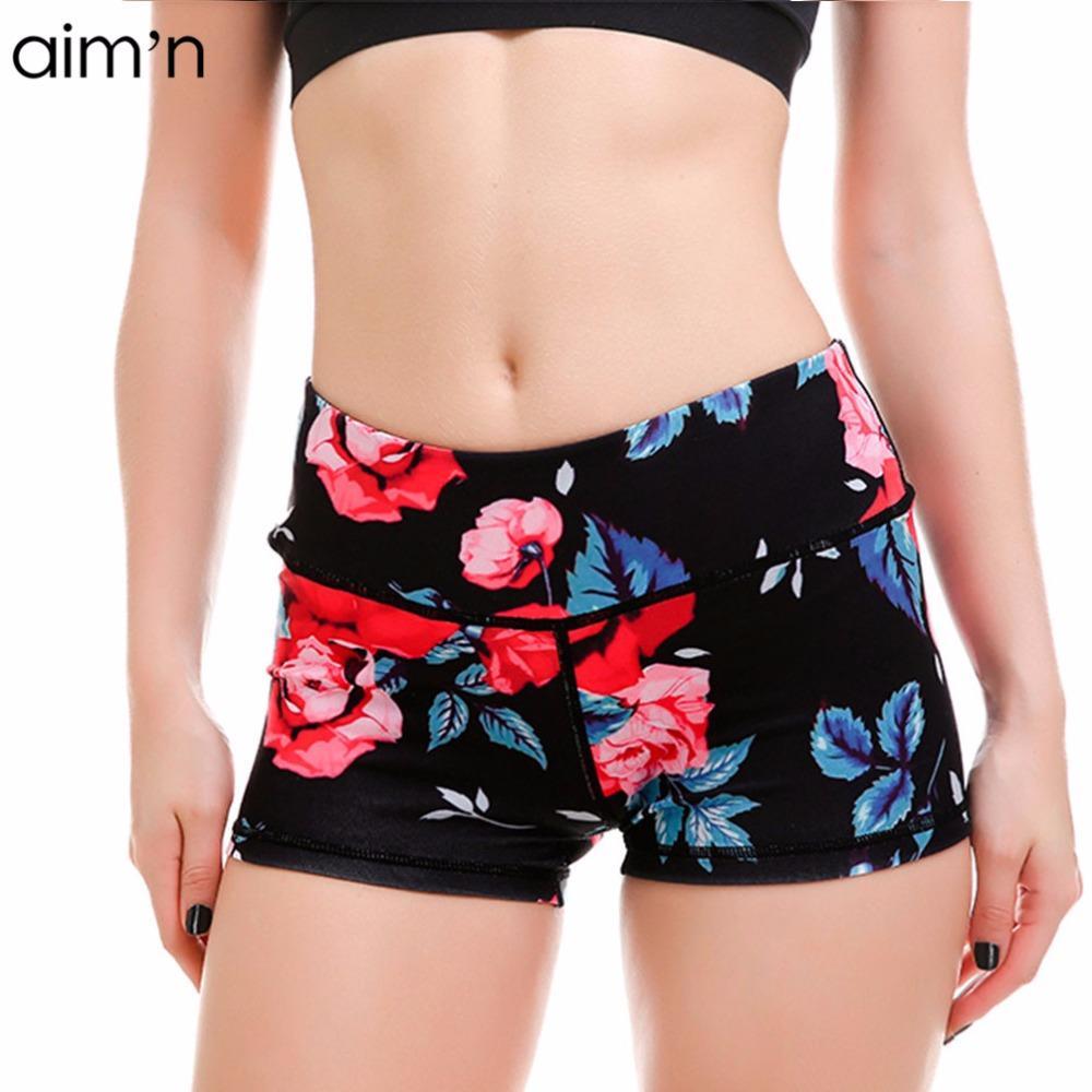 e1de261fdc Ladies Sports Shorts Rose Digital Printing Breathable Slim Yoga Shorts  Ladies Sports Hot Yoga Shorts Shorts Ladies Yoga Hot Shorts Online with  $42.63/Piece ...
