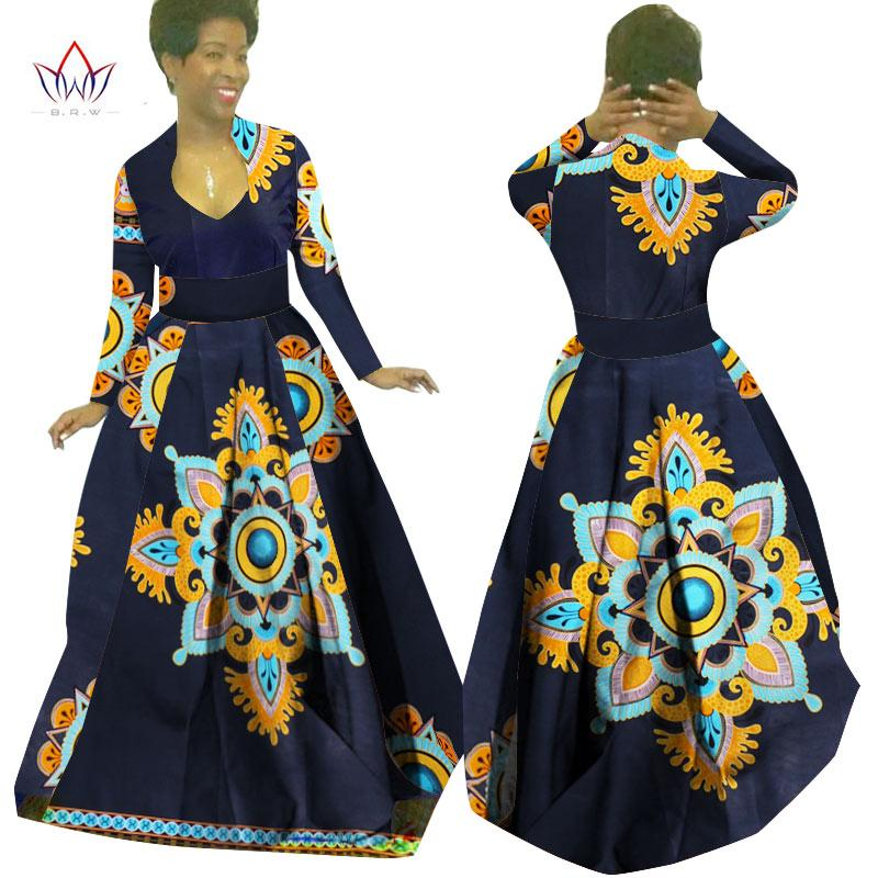 Custom Made African Clothes Bazin Rich Dashiki Africrint Long Dress  Traditional Attire Batik Plus Size Women Dress Maxi Dress WY029 Black  Cocktail Party ... 8239ed697f33