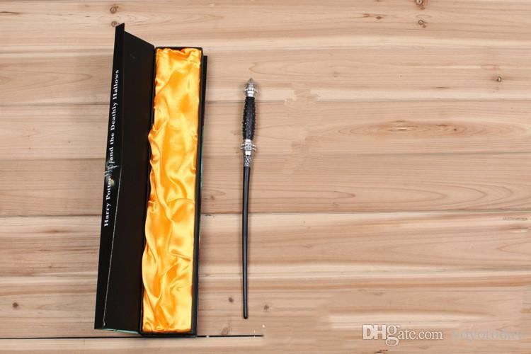 VENDITA CALDA Bacchetta magica di Harry Potter Bacchetta di Silente bacchetta magica di Hogwarts Bacchetta magica di Hermione Voldemort nella confezione regalo 36 cm 18