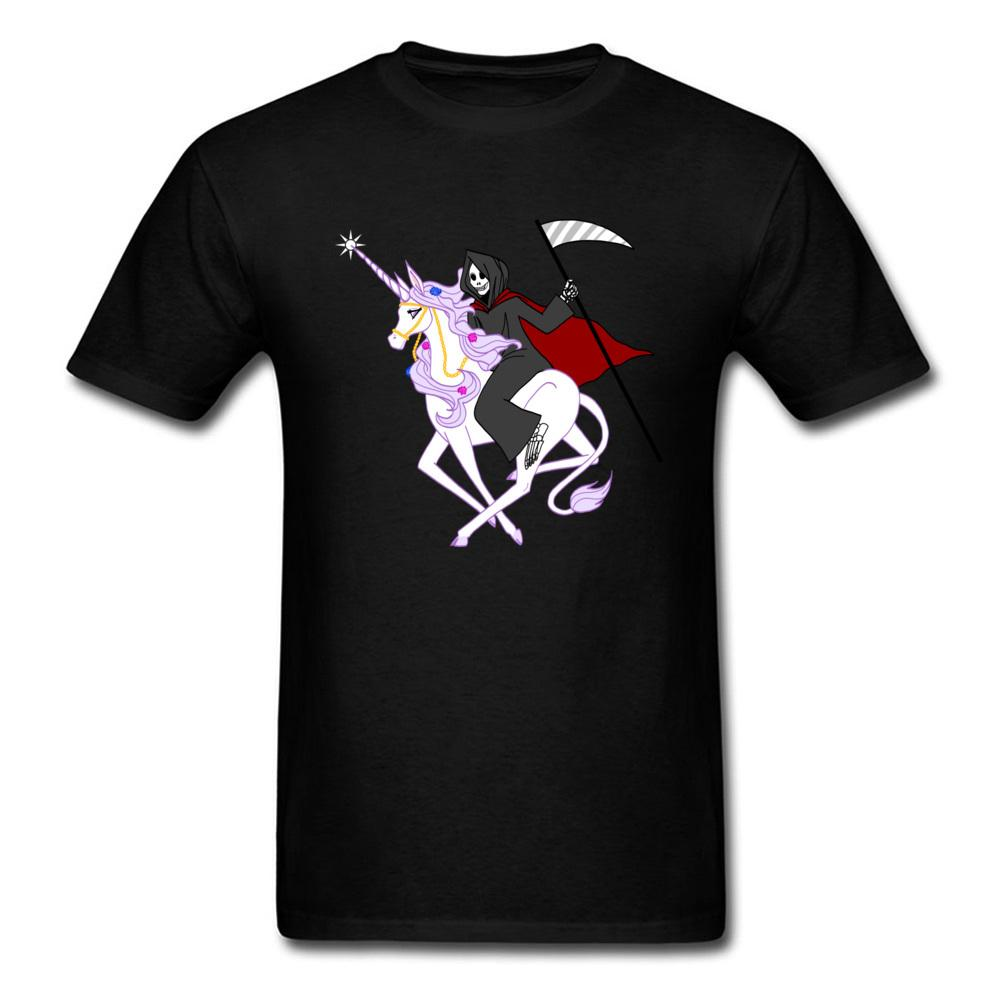 2018 Buddies Grim Reaper Riding Unicorn Men T Shirt Valentine S Day