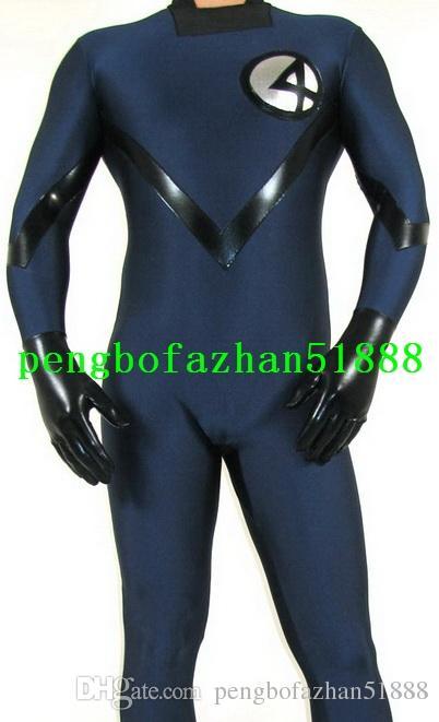 2 Style Lycra Spandex Fantastique Hommes 4 # Costume Costumes Costumes Fantaisie Super-héros Fantastique Hommes 4 # Costumes Outfit Halloween Cosplay Costume P202
