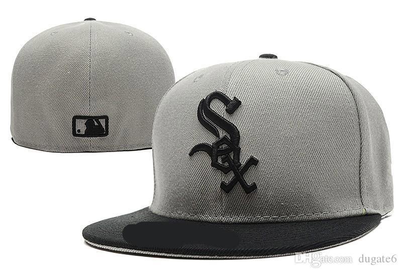 Cheap chicagoWhite Sox sombreros equipados Gorras baloncesto de la nueva moda Snapback sombreros deportivos Todos los equipos Gorras Hombres Mujeres Equipado Fútbol Cap mezclado orden
