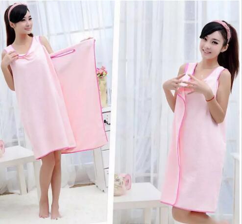 Magic Bath Towels Lady Girls SPA Shower Towel Body Wrap Bath Robe Bathrobe Beach Dress Wearable Magic Towel