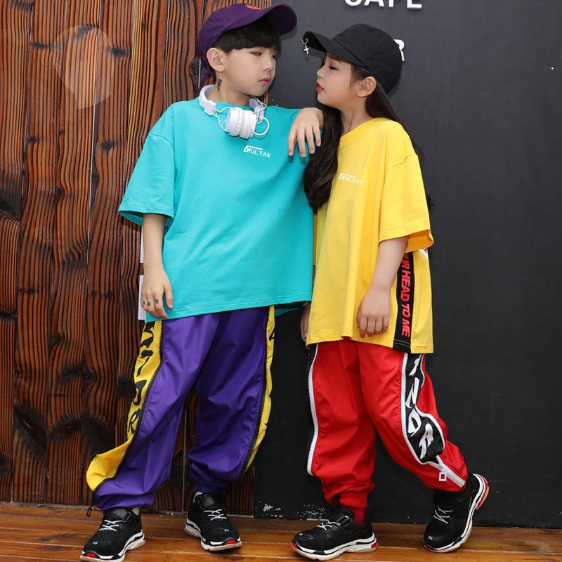 36ab2edef64f 2019 Girls Hip Hop Dance Costume Kids Jazz Dress Round Neck Short Sleeve  Shorts Unisex Sportswear Boys Street Dance Clothing DN2092 From Bailanh, ...