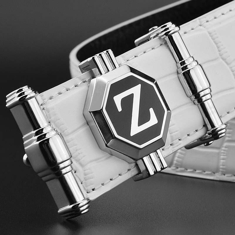 46d8c2961648 Acheter Z Lettre Hommes Ceinture Luxe Célèbre Marque Casual Bracelet Blanc  Pour Designer En Cuir Véritable Taille Sangle Cowskin Mode Ceinture De   24.86 Du ...