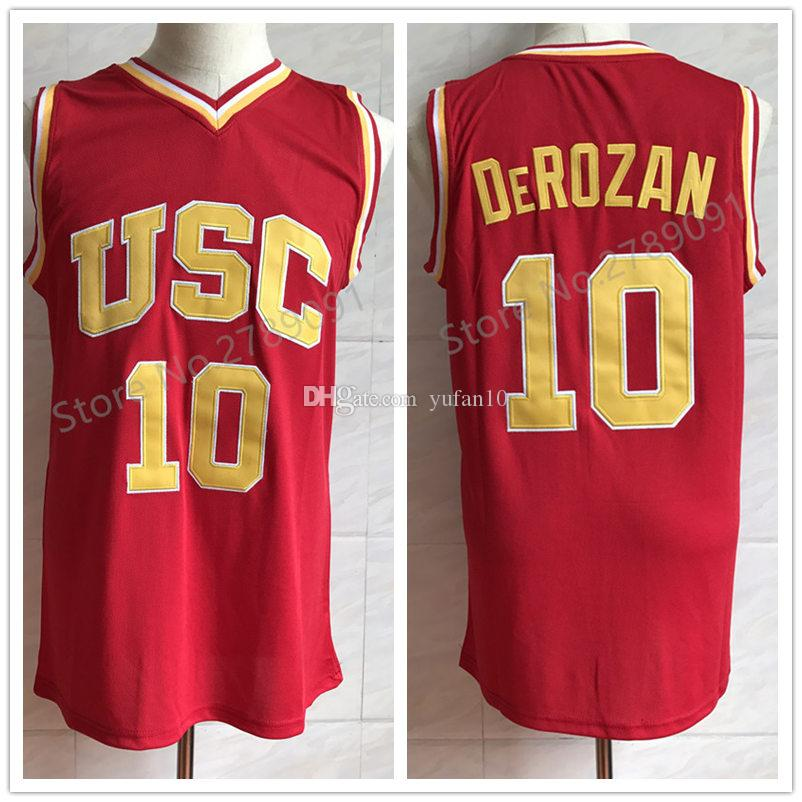 d4484ae3d 2019  10 Demar DeRozan USC Trojans College Red Retro Classic Basketball  Jersey Mens Embroidery Stitched Jerseys From Yufan10