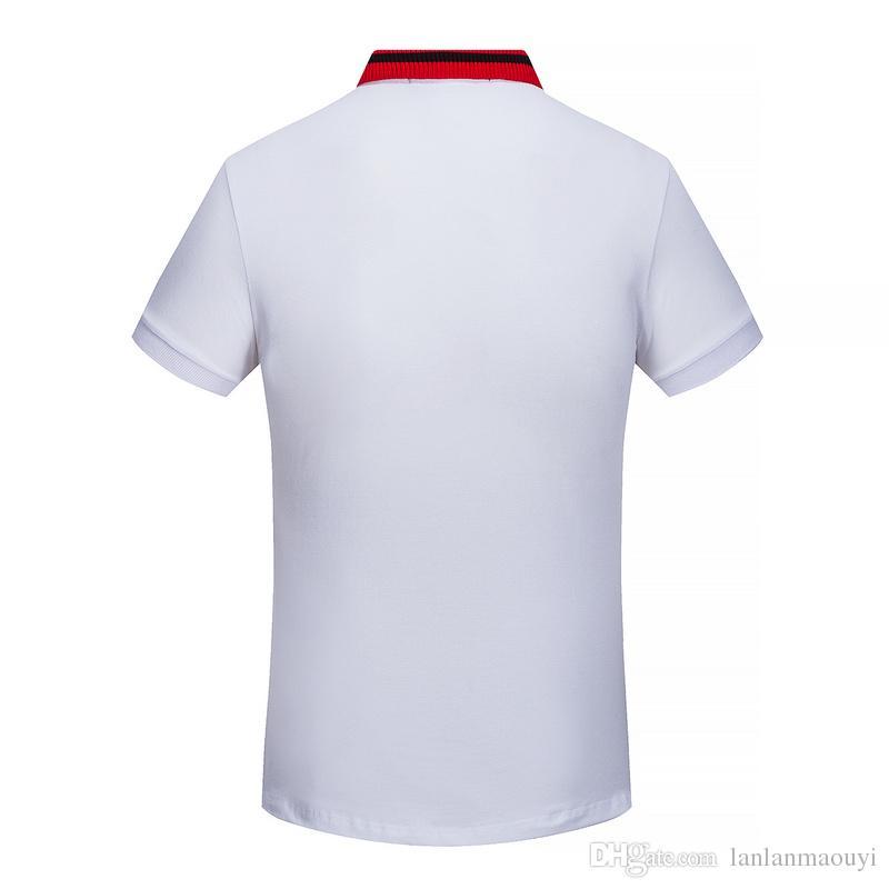 trasporto libero di nuovo arrivo risvolto polo uomo casual t-shirt estate marchio di moda manica corta maglietta polo maschile SPGU16511