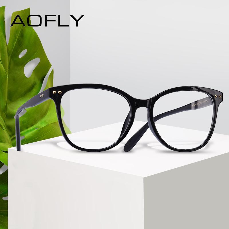 b432d3d234 2019 AOFLY BRAND DESIGN Women Plain Glasses Fashion Eyeglasses Frame ...