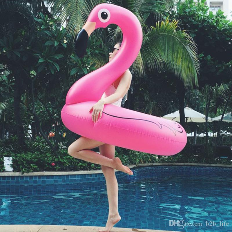 Inflatable Flamingo Pool Float Toys Kids Swimming Ring Circle Party Decoration Beach Water Party toy FFA159