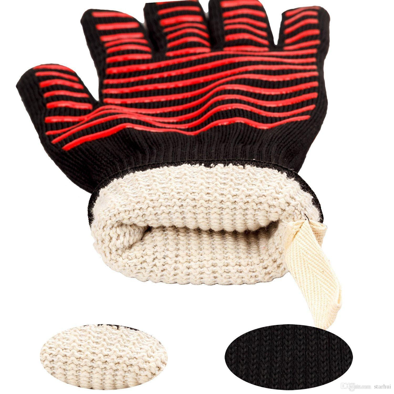 500 grados centígrados guantes resistentes al calor ideal para el horno BBQ para hornear, guantes de cocina en aislantes, guantes de barbacoa para barbacoa, herramientas de cocina Tastry WX9-381