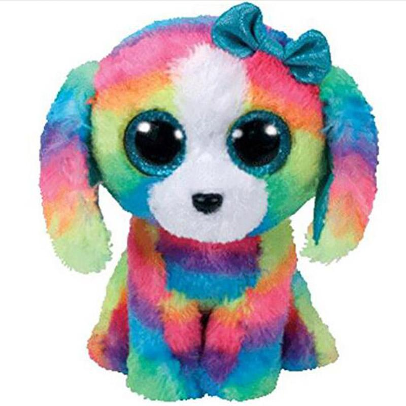 2019 Ty Beanie Boos 6 15cm Lola The Dog Plush Regular Soft Big Eyed