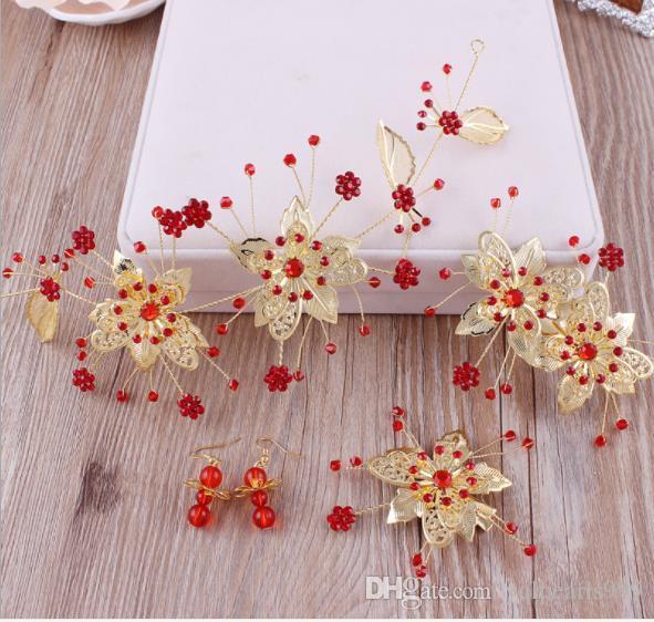 Bräutlichesheadwear, rote Haare, Toast, Brautkleid, Hochzeit Accessoires, Kopfblume