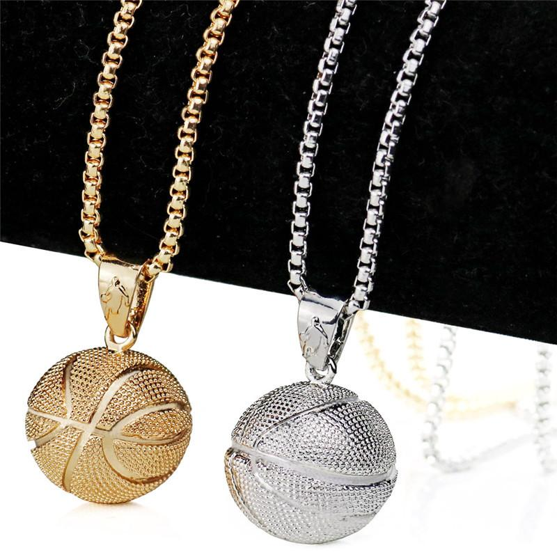 Wholesale men basketball pendant necklace gold stainless steel chain wholesale men basketball pendant necklace gold stainless steel chain necklace women men sport hip hop jewelry basketball lovers gift accessories gold mozeypictures Gallery