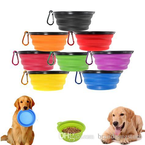 Travel Collapsible Pet Dog Cat Feeding Bowl Water Dish Feeder Silicone Foldable To Choose