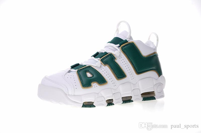 Compre UptempoATL Atlanta Scottie Pippen 1 Blanco Verde Dorado Moda Casual  Zapatos De Baloncesto AAA + Calidad Hombres Mujeres Deportes Zapatillas De  ... b061c151042