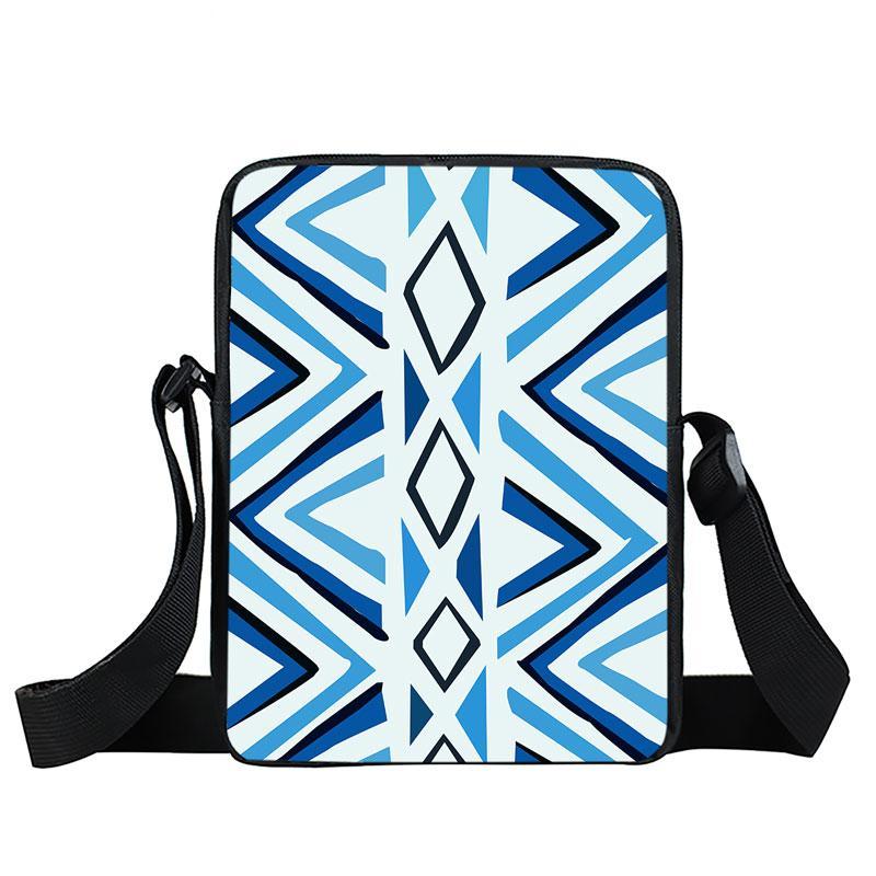 2018 Sale Good Cheap Brand New Fashion Popular Fresh Blue White Stripe  Single Sling Mine Girls Women Messenger Bag