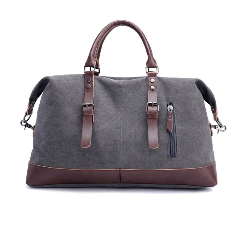 103e23f069 Fashion Wohlbag Canvas Leather Men Travel Bags Carry On Luggage Bags Men  Duffel Travel Tote Large Weekend Bag Overnight Messenger Bags For Men Hobo  Bags ...